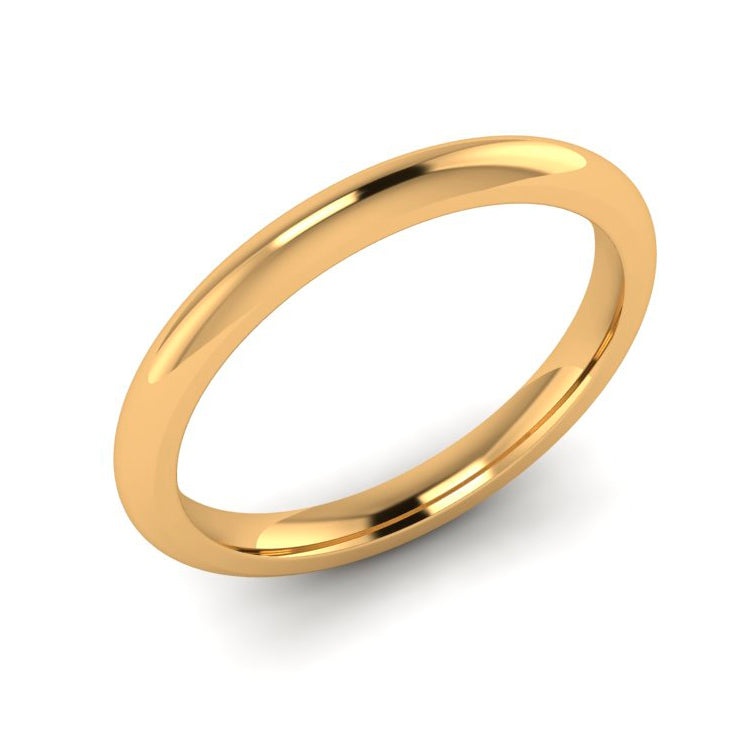 9ct Yellow Gold 2mm Ladies Wedding Ring