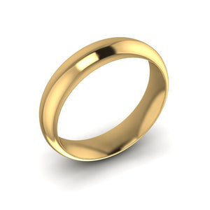 18ct Yellow Gold 5mm Men's Soft Court Wedding Ring
