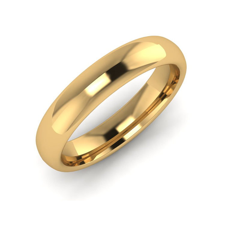 18ct Yellow Gold 4mm Ladies Wedding Ring