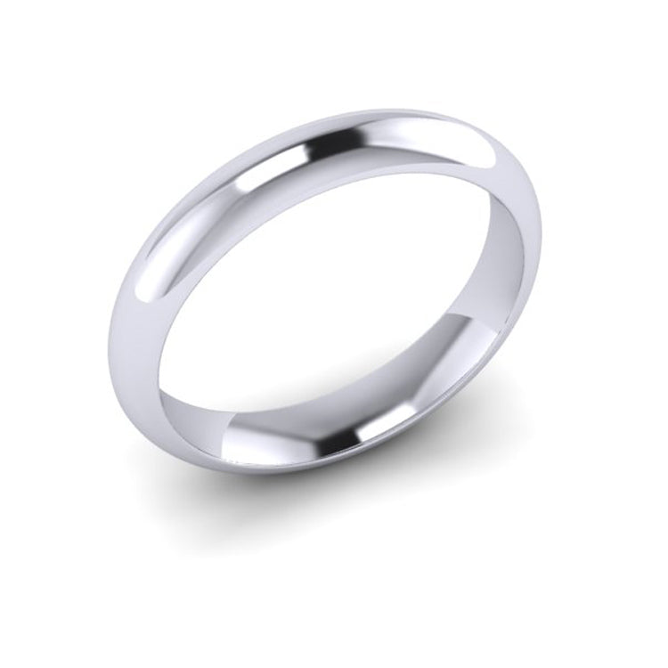Platinum 4mm Courted Men's Wedding Ring