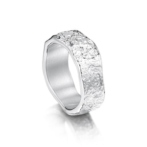 Sterling Silver Men's Matrix Ring by Sheila Fleet