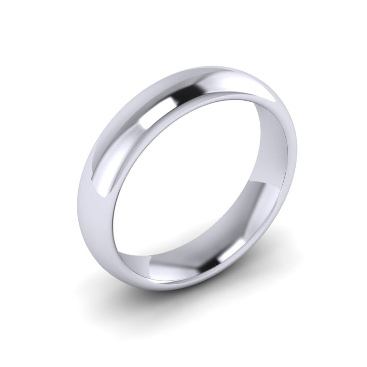 Platinum 5mm Men's Courted Wedding Ring