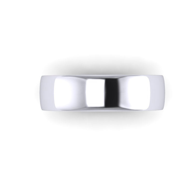 Platinum 6mm Soft Court Men's Wedding Ring