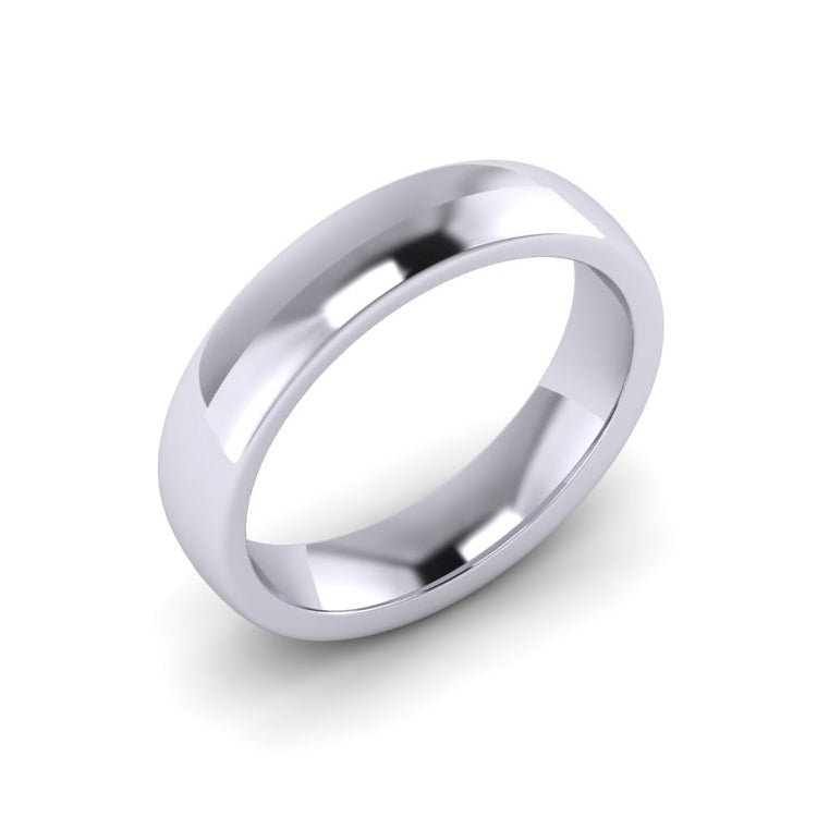 Platinum 5mm Soft Court Men's Wedding Ring