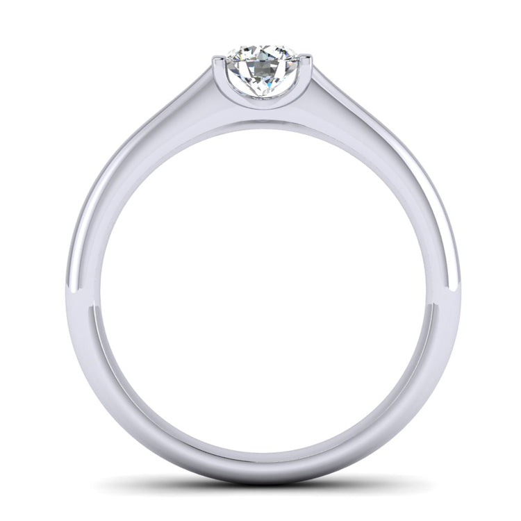 GIA E VS2 Fine Diamond Platinum Engagement Ring