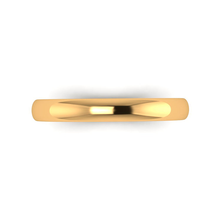 9ct Yellow Gold 3mm Men's Wedding Ring