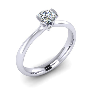 F VS2 GIA Diamond in a hand fabricated Platinum set Engagement ring