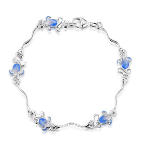 Bluebell - Silver and Enamel Bracelet