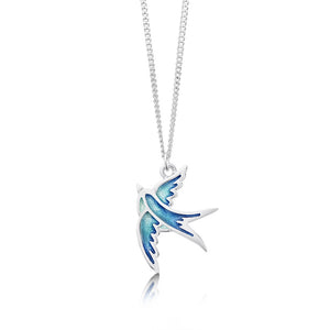 Swallow - Sterling Silver Pendant