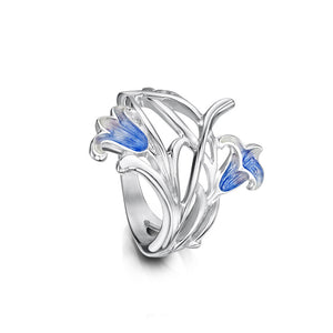 Bluebell - Silver and Enamel Ring