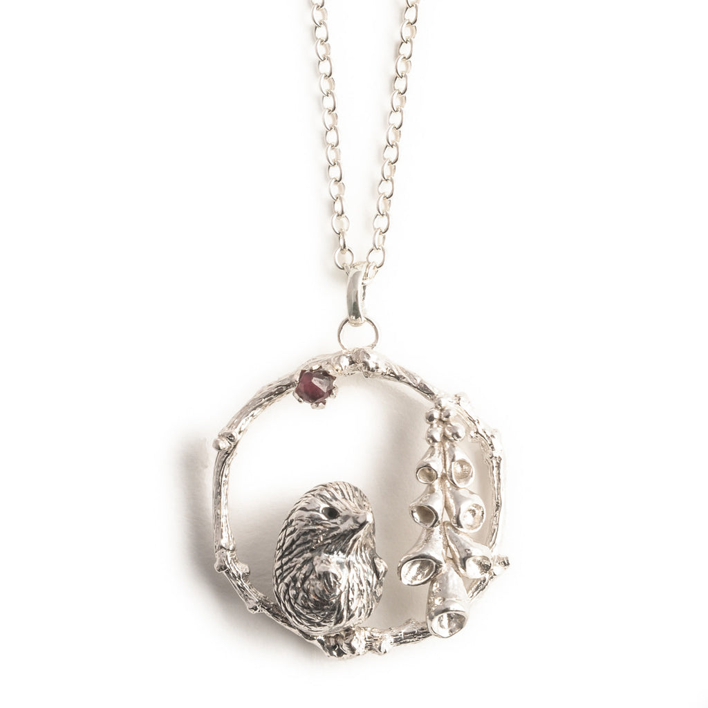 Sonya Bennett Hedgehog and Foxglove Necklace