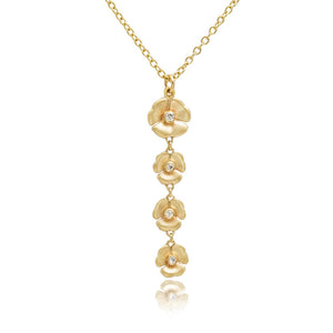 9ct Yellow Gold Fine Diamond Mariposa Pendant