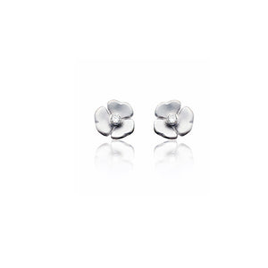 9ct White Gold Mariposa Diamond Studs