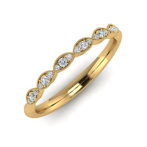 18ct Gold Fine Diamond Wedding Ring