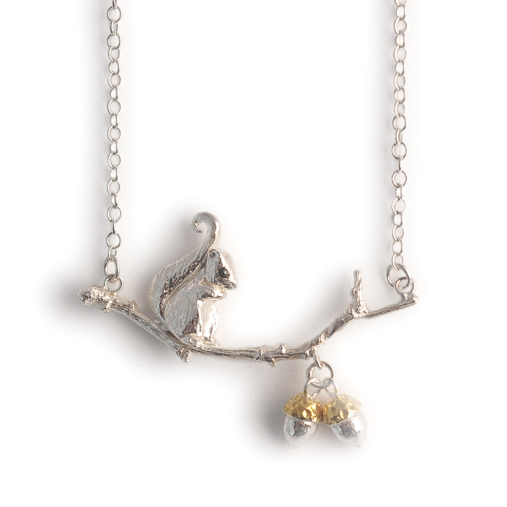 Sonya Bennett Squirrel and Acorn necklace