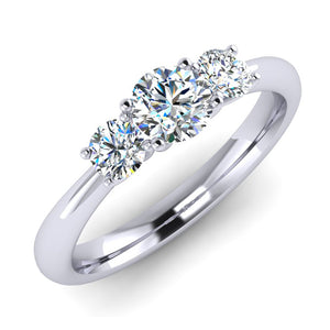 Fine Diamond Trilogy Platinum Engagement Ring