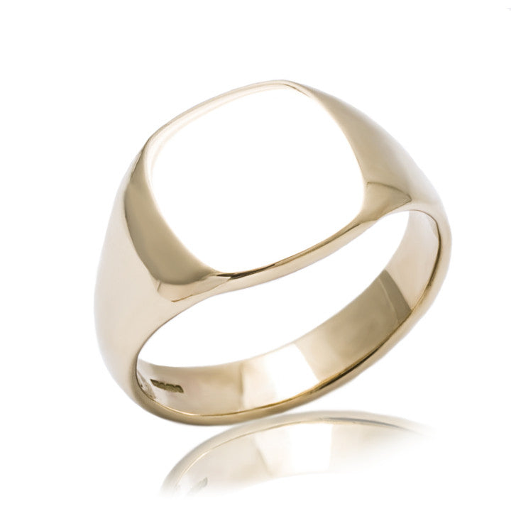 9ct Gold Cushion Signet Ring