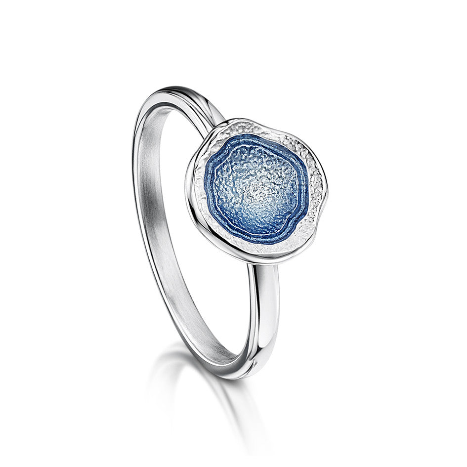 Lunar - Silver and Enamel Ring