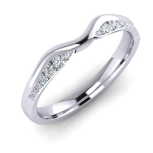 Platinum and Fine Diamond Ladies Fitted Wedding Ring