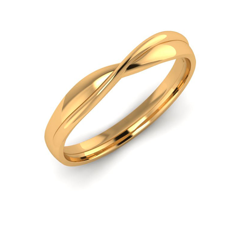 18ct Gold Fitted Ladies Wedding Ring