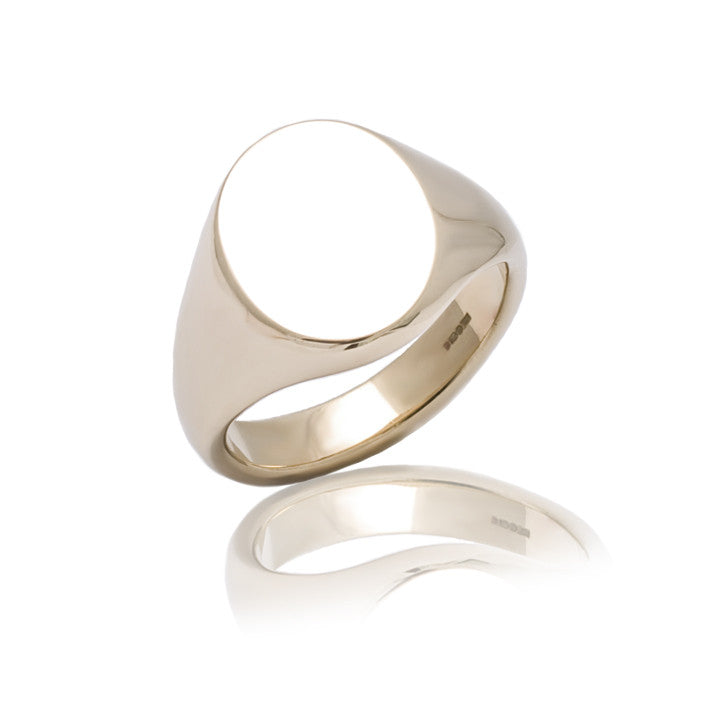 Small 9ct Gold Oval Signet Ring