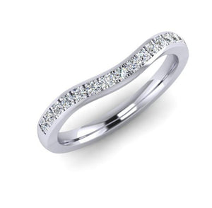 Platinum Shaped Eternity Ring with 15 Fine Diamonds
