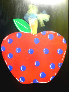 Teacher Apple Door Hangers - Little Bug Craftz
