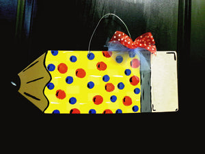 Teacher Pencil Door Hanger - Little Bug Craftz