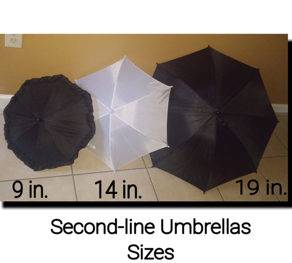 Second-Line Umbrella 14 inches - Little Bug Craftz