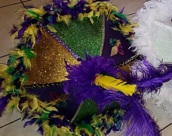 Mardi Gras Second-Line Umbrella 14 inches - Little Bug Craftz