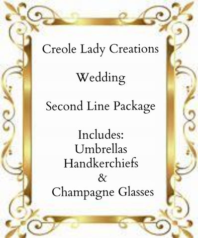 Second Line Wedding Package - Little Bug Craftz