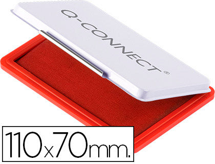 Tampon QConnect N.2 110X70 Mm Rojo