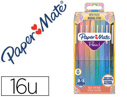 Rotulador Paper Mate Flair Tropical Estuche Rigido