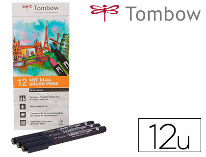 Rotulador Tombow Acuarelable Colores Primarios