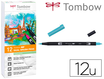 Rotulador Tombow Acuarelable Colores Pastel