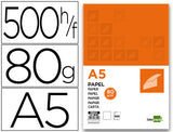 Papel Liderpapel A5 80G/M2