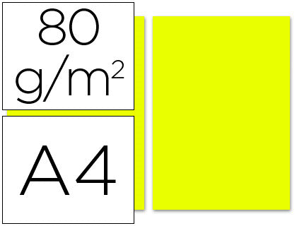 Papel Color A4 80G/M2 Limon