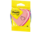 Blister Papeleria 3M 2007H Post It Troquelado Corazon 3 Neon