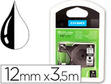 Cinta Dymo Negro Blanco 12Mm X3,5 Mt D1 Nylon