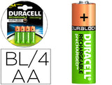 Pila Duracell Recargable Staycharged AA 2400 Mah