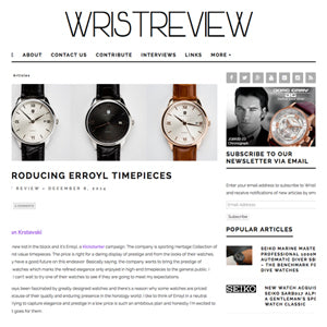 WRIST REVIEW : Introducing ERROYL Timepieces