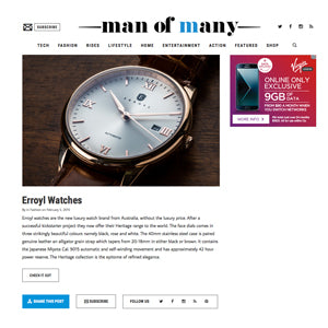 MAN OF MANY: Fashion/Erroyl Watches