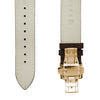 Dark Brown Italian Crazy Horse Leather Strap with Rose Gold Clasp