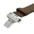 Dark Brown Italian Crazy Horse Leather Strap with Stainless Steel Clasp