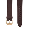 Dark Brown Italian Crazy Horse Leather Strap with Rose Gold Pin Buckle