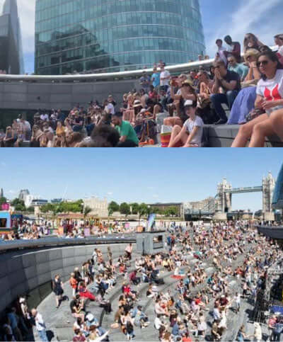 Pineapple Community dancers performed  in the sunshine at London Bridge City's 'Summer On The River
