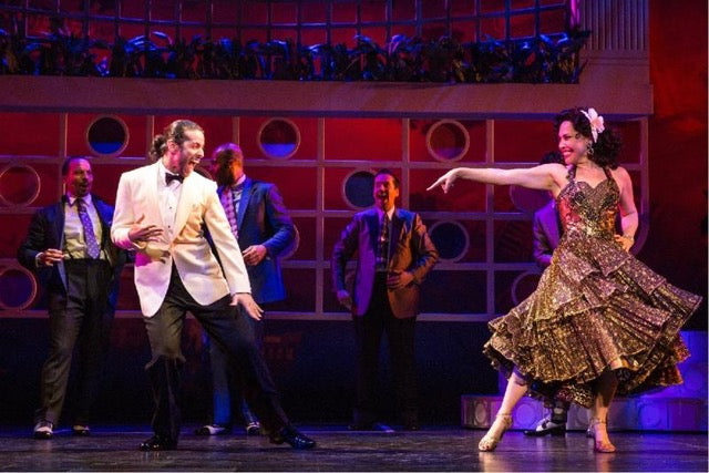 Luis Salgado and Andrea Burns in On Your Feet
