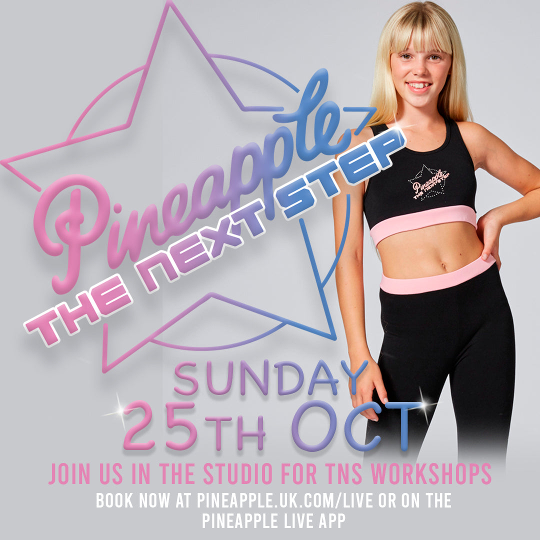 #TNSXPINEAPPLE Live in-studio dance classes, Sunday 25th October