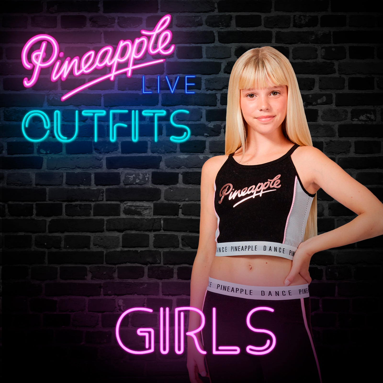 Pineapple LIVE dance class outfits for girls