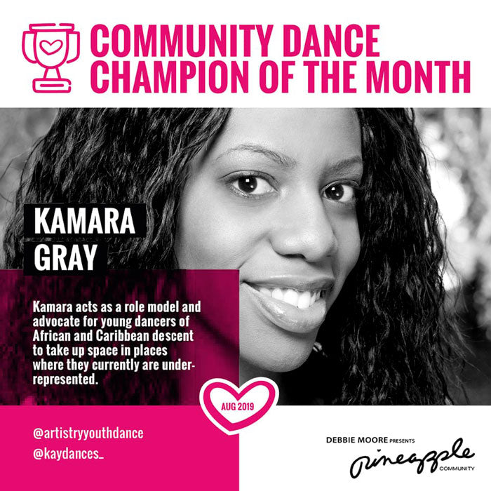 COMMUNITY DANCE CHAMPION | AUGUST 2019